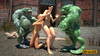 Monsters and beauties in forced sex action