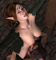 Hot elves and aliens - 3D Porn