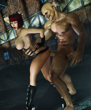 Great ogre porn gallery with a happy ending