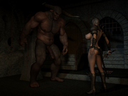 3D Sex action with Lara Croft