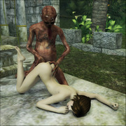 Malicious monsters playing visious sex game on evil porn 3d