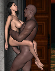 Black monster with monster cocks fucks white babe