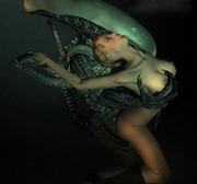 Horny alien invasion! Those lusty creatures are searching for any wet pussy in the town!