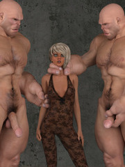 Tentacle and monster cocks giants -3D Porn