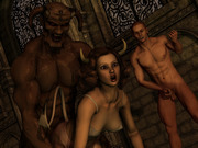 3D Group sex with fantasy creatures