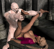 Sexy fantasy 3D girls getting fucked by demons