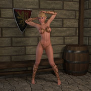 Sexy blood elves waiting for some hot sex action, blue haired elfin with a golden dildo.
