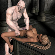 Evil monsters and fantasy babes - 3D Sex