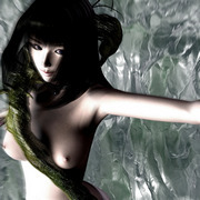 Aliens catch sexy girls and fuck them with their long flexible organs making babes scream.