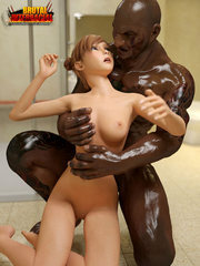 Monster black and white - interracial 3D Porn