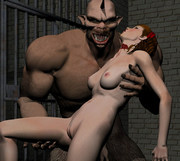 Fairytale creatures fornicating - 3d monster fucking