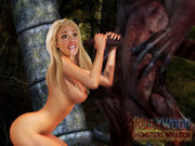 Sexy elf princess filled with monsters cum - 3d porn pics