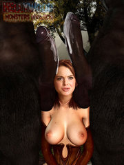 monsterporn where cute innocent girl gets it from behind