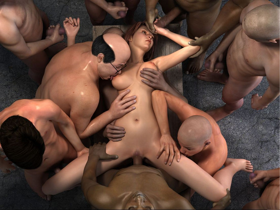Hentai gangbang video