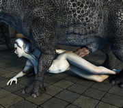 Torn 3d pussy, pierced ass - the same monsters with tentacles
