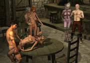 3d cave sex - goblins attack sexy naked bitches - comics toon
