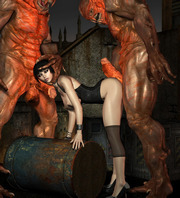 Forced cuties � 3d hot babes and monsters comic