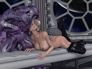 Unwanted guests � xxx 3d fantasy babes fucked by aliens