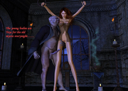 Perverted zombie forced 3d cutie into riding his hung monster dick