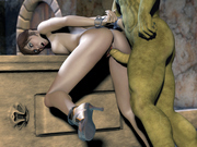 Brunette slave forced by ancient dragon - 3d porn pics