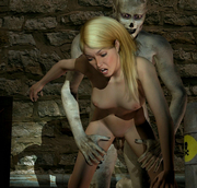 white elf teasing to be captured for 3d porn forced sex