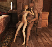 3D hottie pounded in the night by scary zombie in the world of Porncraft