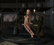 Naughty 3D young elf babe showing her stunningly sexy smooth pussy