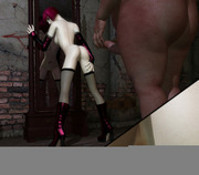 Sweet 3d babe forced to sexual relationships by an evil demon