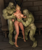 Pleasant looking elf princess caught by horny orcs