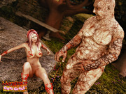 3D elf babe in trouble - Raped by goblins