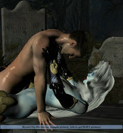 petite elven is naked and eager for some 3d mostersex