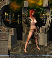 3d devil porn babe is out shooting at trolls
