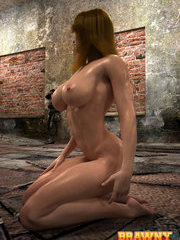 Naughty 3d babe played by a powerful and long-coked demon in monster porn world