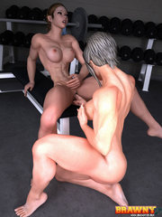 Wet babe is ready for forced 3d porn