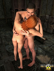Beautiful elf babe getting raped by vehement alien