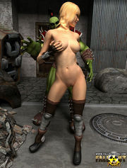 Strong horny orcs fucking sexy women with gorgeous bodies, making them all wet.