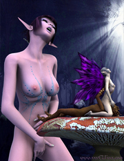 Naughty fairies and elves nude porn