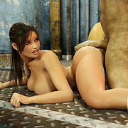 Hot Lara Croft fucked in pussy and in the ass